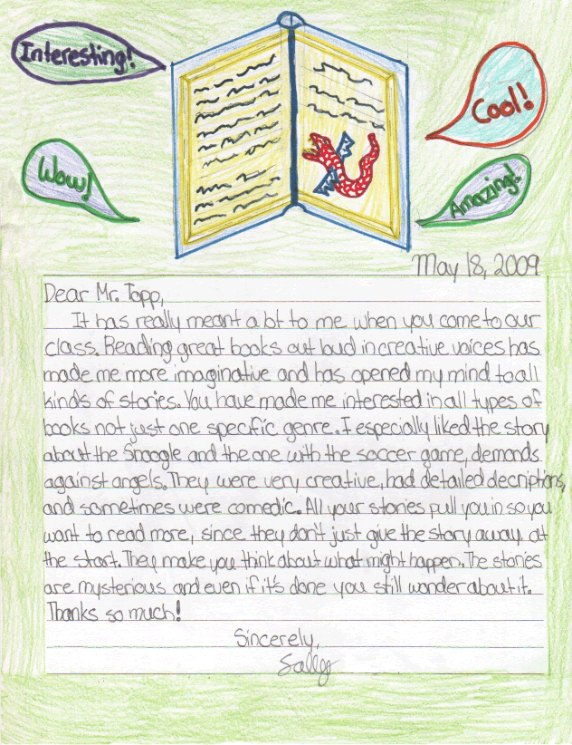Sally's Letter
