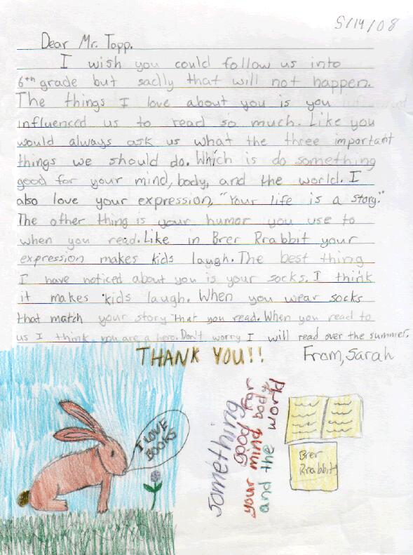 Sarah's Letter